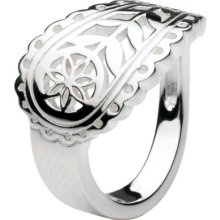Paisley silver ring.