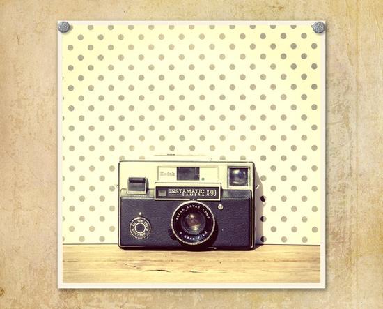 Vintage Camera Photography Kodak Instamatic X-90--Fine Art Lomography Print 10x10 by ThePDXPhotographer via Etsy #fpoe