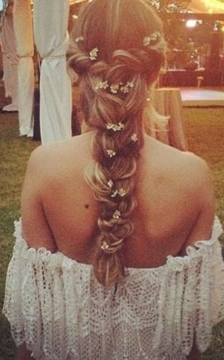Amazing French Braid With Flowers Intertwined