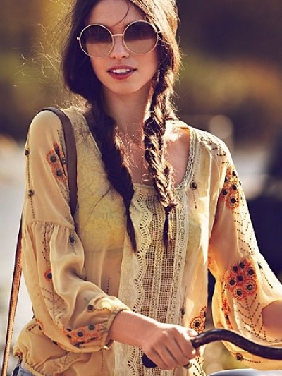 Free People #Summer #Hippie #Boho #Hair #Braid #Fashion #Beauty boho style can also play a part with hair , if you want to have a boho style wear al ot of braids fishtail i like the best, messy up your hair have messy waves with braids hiding wear knit turbans or headbands!