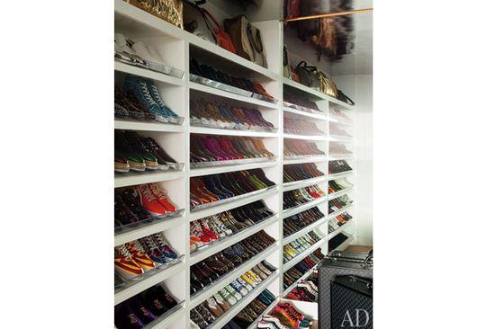 Elton John's Shoe Closet