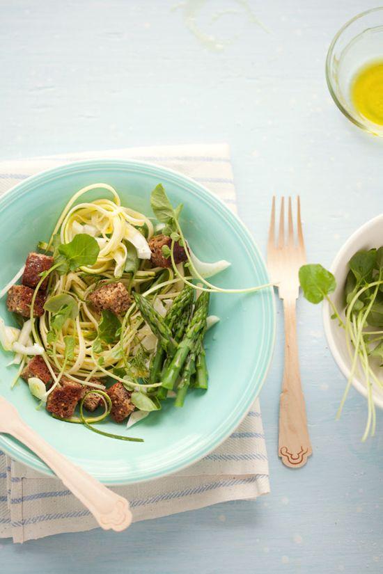 spring panzanella salad.
