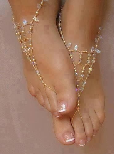 bare foot sandles....just an ideal you can buy them or idea to make them yourself.