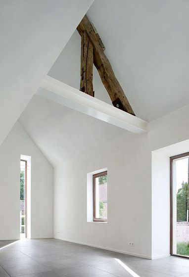 :: ARCHITECTURE :: when modern detailing can celebrate the history of a building, this is a beautiful opportunity to showcase the true bones that lies beneath the walls #architecture #interiors #white