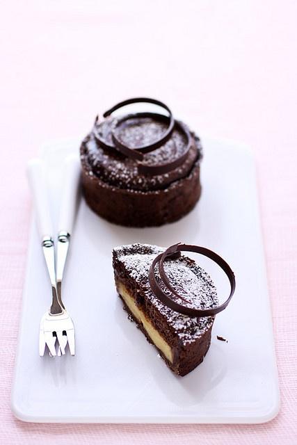 Chocolate and Meyer lemon tart