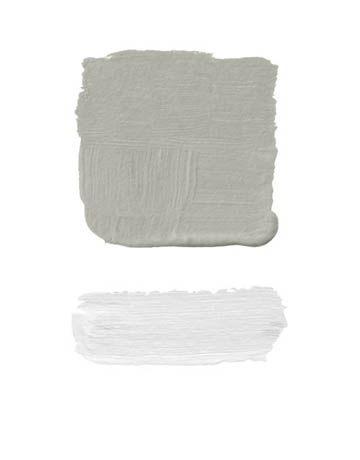 """gray color palette - Benjamin Moore """"Heaven"""" - From  House Beautiful article"""