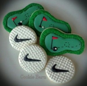 Golf Hand Decorated Cookies- maybe for the outing next year