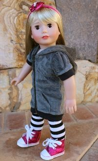 """Fits American Girl Hoodie Dress for 18"""" dolls"""