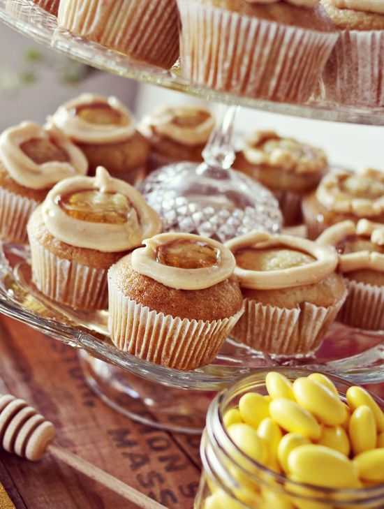 Peanut Butter & Honey Cupcakes