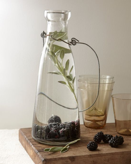 blackberry sage flavored water