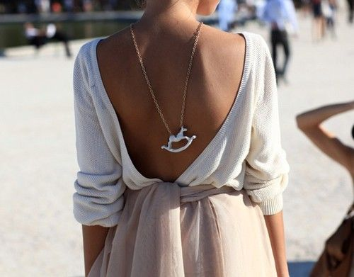 back necklace love