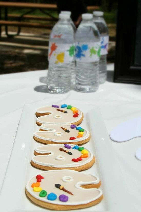 Cute cookies at an Art Party via Kara's Party Ideas