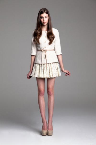 paper crown windsor jacket + wimbledone skirt