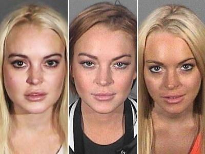 Lindsay Lohan: mug shot, mug shot, mug shot.