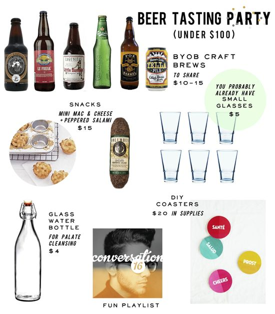 Party Down: Home Beer Tasting Party Under $60