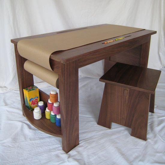 Children's Craft Table & 2 Stool Set  Eco by rethinkrenovations, $499.00