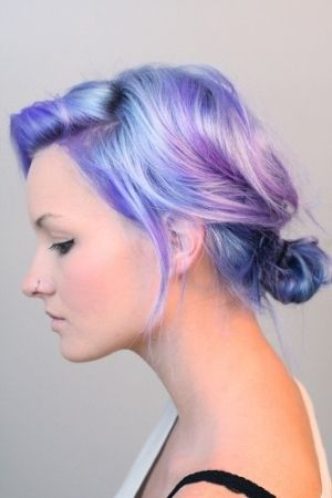 #hair #dye #purple #blue by joanne