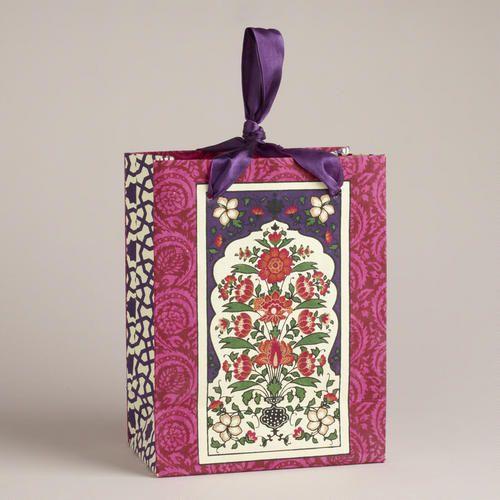 Small Venetian Window Pane Handmade Gift Bag