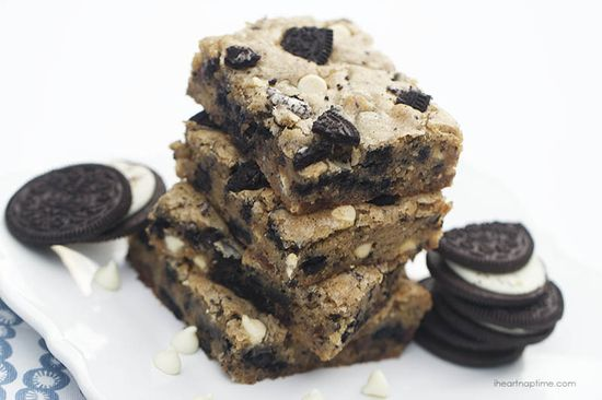 Chocolate chip OREO cookie bars I Heart Nap Time