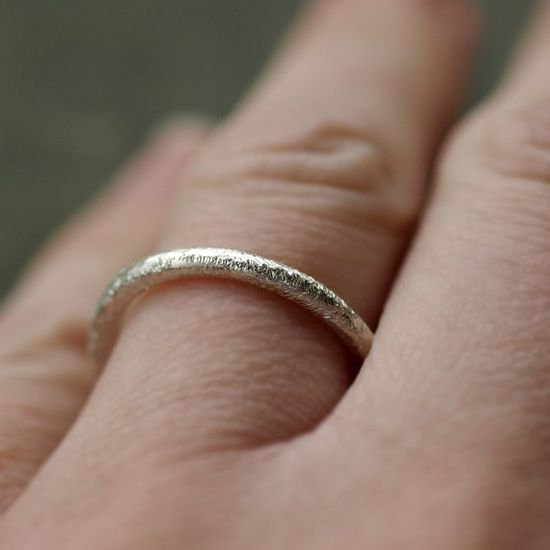Cassie's simple and beautiful diamond finish ring