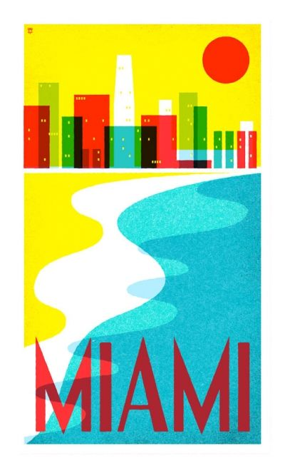 retro travel posters (miami)