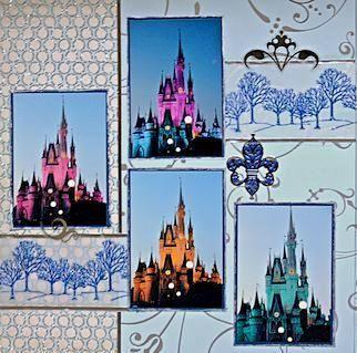 Cinderellas Castle - Disney World, Florida - LEFT SIDE - Scrapbook.com