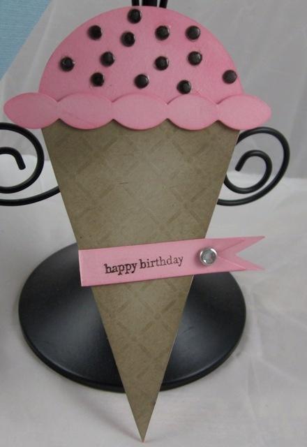 Petal cone ice cream cone card