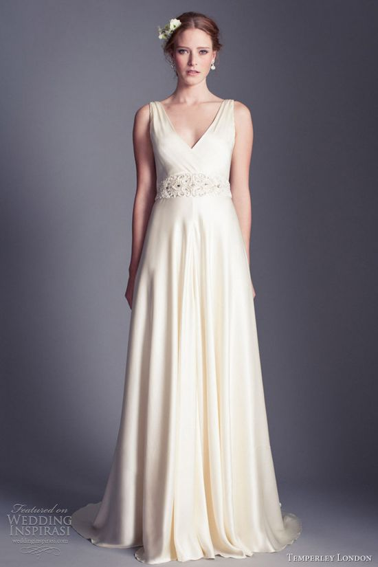 temperley london wedding dresses 2013 madison silk satin sleeveless gown