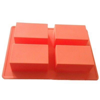 4 Cavities Cuboid Silicone Handmade Soap Mold #handmade cards #handmade paper making #handmade quilts #sew in weave #handmade headbands