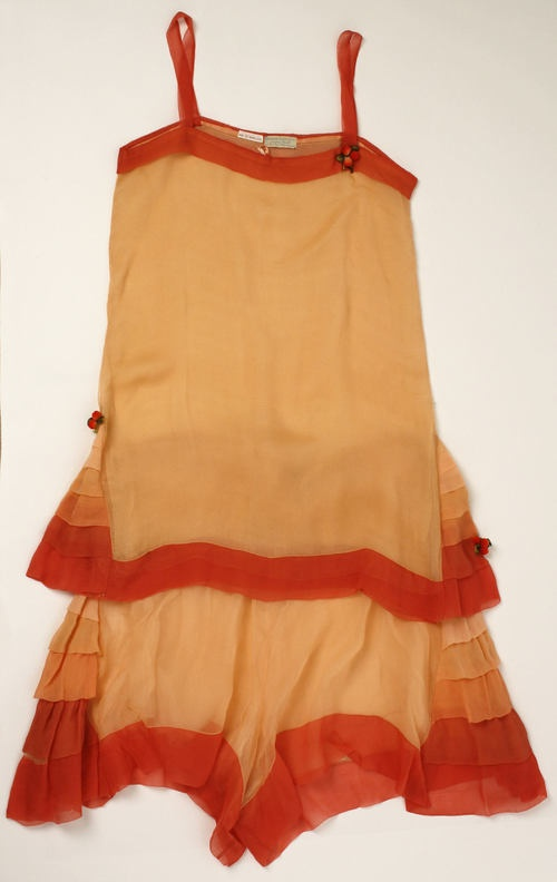 Silk 1920s lingerie slip dress.
