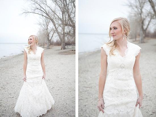 #wedding #dress #modest #sleeves #lace #belt #temple #long #lds #mormon