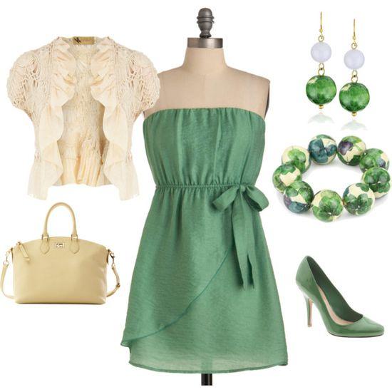 Green Bow Dress :)