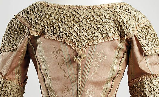 Detail - French silk dress 1778-80