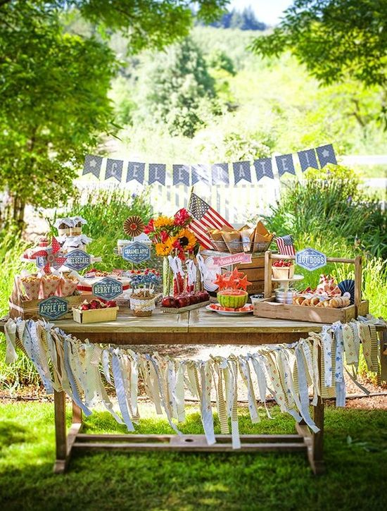 Amazing Vintage Style Fourth of July Party