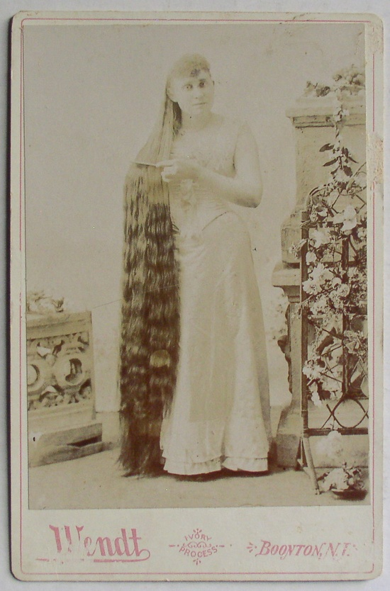 Antique Wendt Cabinet Photo Lady w/ Floor Length Hair » Thingery Previews Postviews & Thoughts