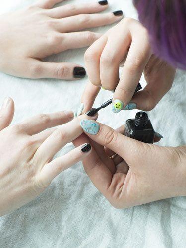 Nail Art Tips: Punk Rock Polish, Step 1