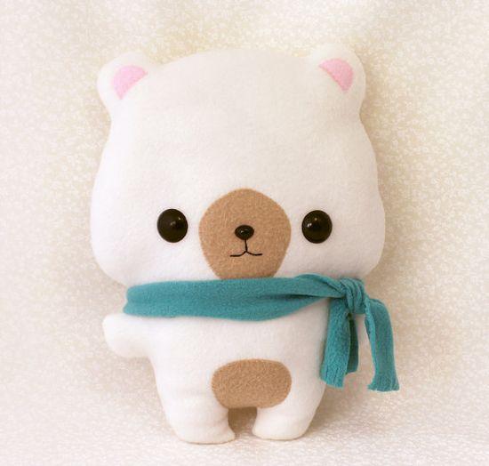 "Plushie Sewing Pattern PDF Cute Soft Plush Toy - Coco Bear Stuffed Animal 13"" via Etsy"