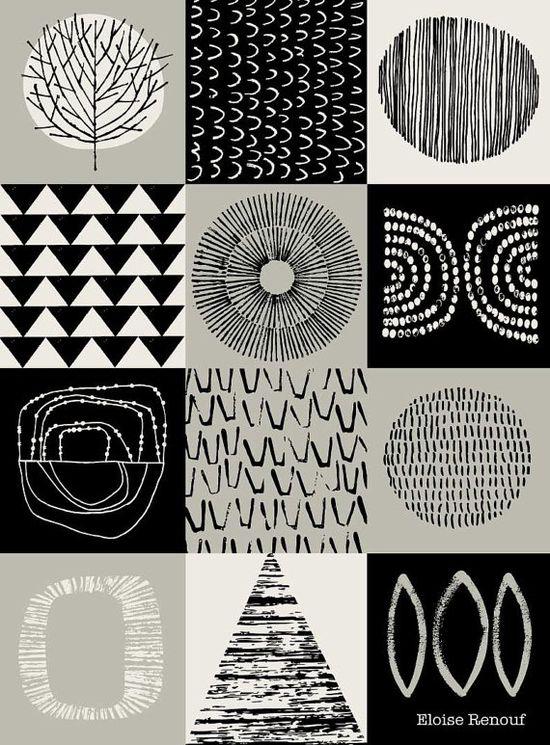 Blockwork Black open edition A3 giclee print by EloiseRenouf, $35.00