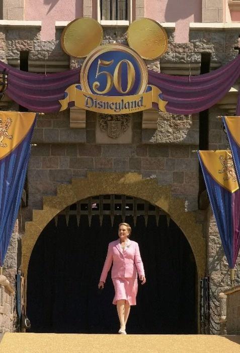 Julie Andrews at the Disneyland 50th Anniversary Celebration