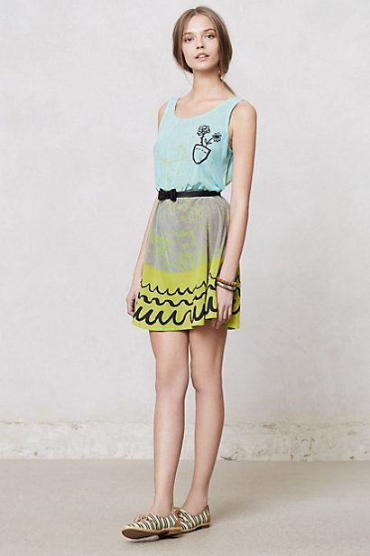 quirky summer dress from anthropologie
