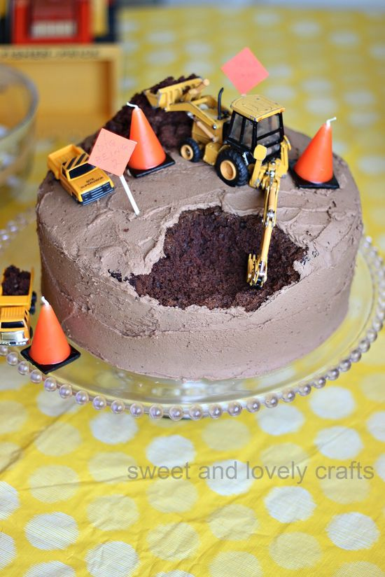 Construction themed party. I dig being 2! What a FUN cake for boys