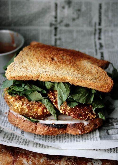 Vegan Fried Green Tomato Sandwich