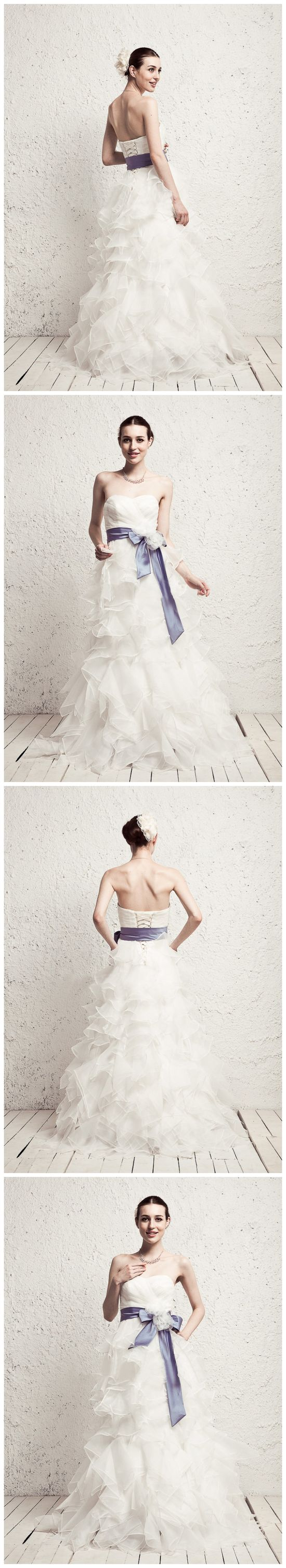 Wedding Dress With Colored Belt