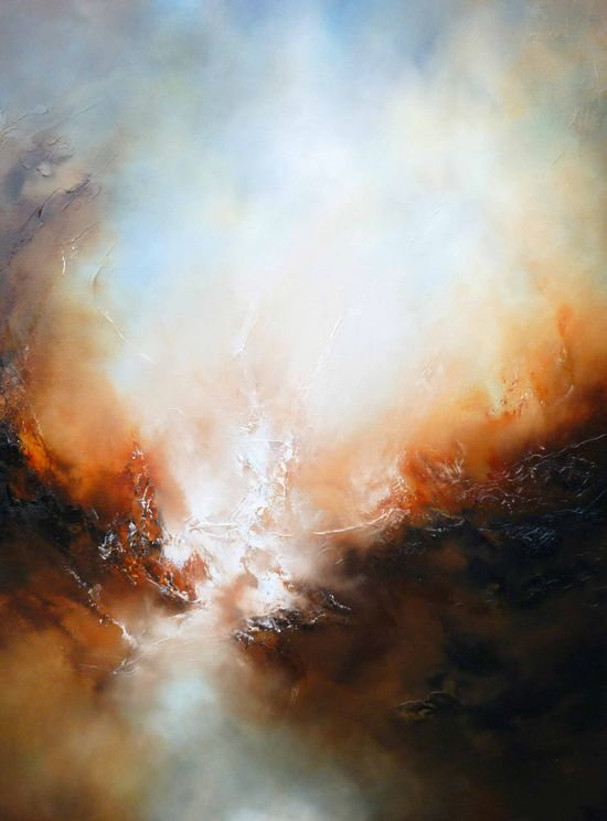 "Large Canvas Abstract Landscape Oil Painting ""Deliverance"" Free Shipping spiritual art"