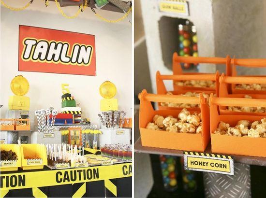 Lego Construction themed birthday party via Kara's Party Ideas KarasPartyIdeas.com #lego #construction #party #ideas #supplies #themed #boy