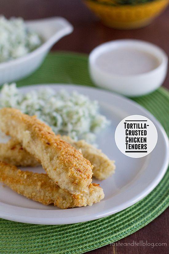 Tortilla-Crusted Chicken Tenders
