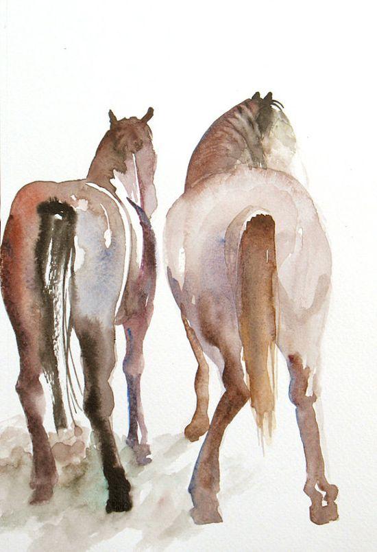 Equine watercolor