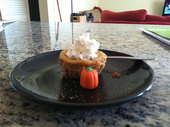 Mini Pumpkin cheesecake #yummy #food