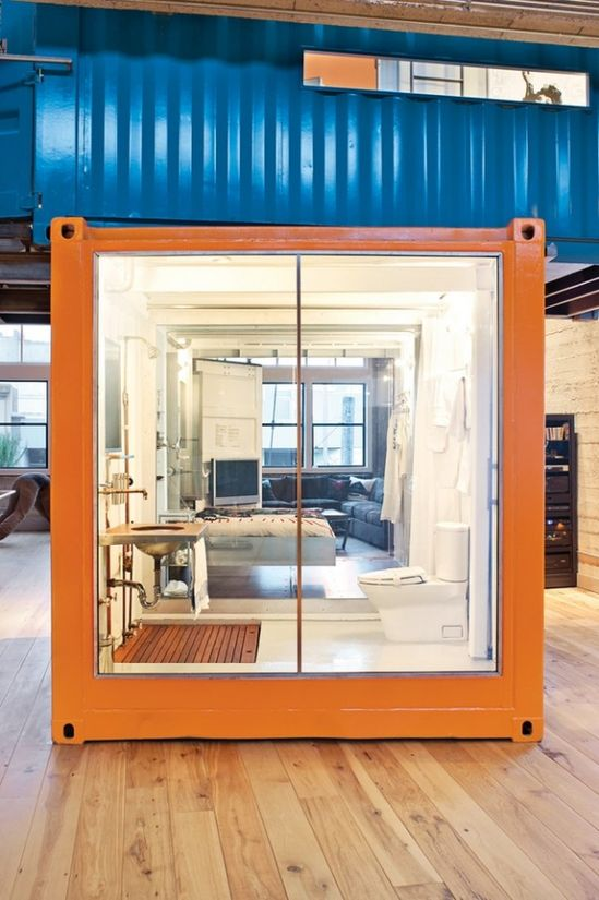 Shipping Container Home Office and guest bedroom
