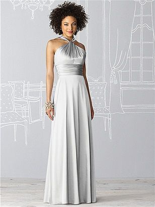 After Six Bridesmaid Dress 6624  #Gray #Bridesmaid #Dresses  You don't see a lot of gray bridesmaids dresses!